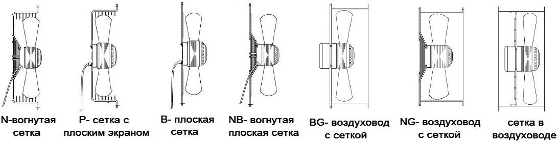 Выдувные осевые вентиляторы МАЙЕР-200 MAER YDWF-300