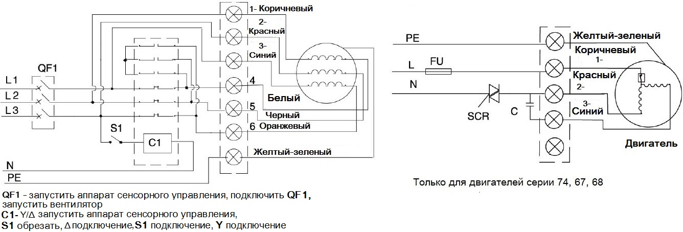 Осевые промышленные вентиляторы МАЙЕР-300 схема проводки